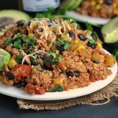 Turkey Taco Quinoa Skillet + Weekly Menu