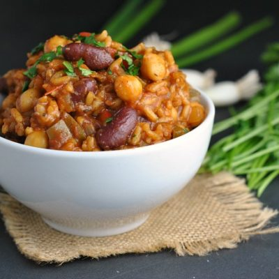 Vegan Jambalaya + Weekly Menu