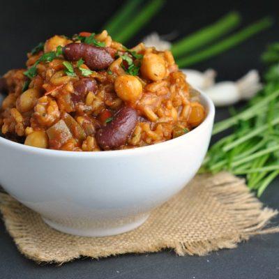 Vegan Jambalaya + Weekly Menu