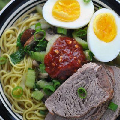 Easy Pork Ramen + Weekly Menu
