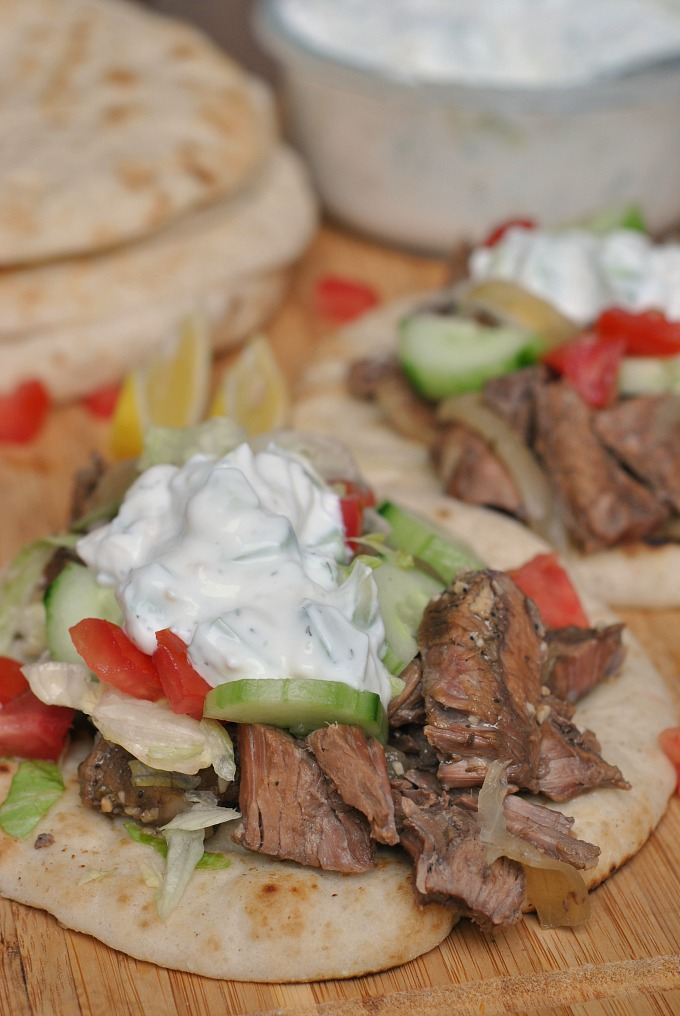 Slow Cooker Beef Gyros via @preventionrd