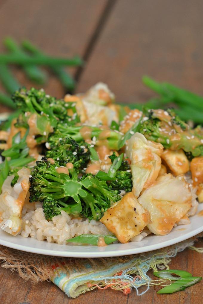 Tofu Stir Fry with Peanut Sauce via @preventionrd