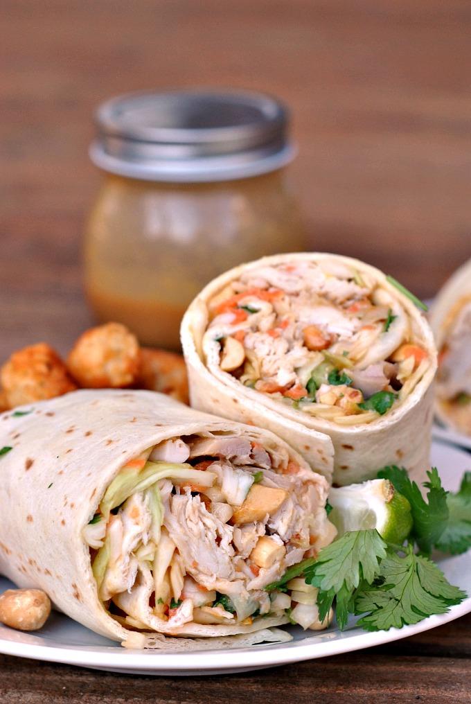 Asian Chicken Wraps via @preventionrd