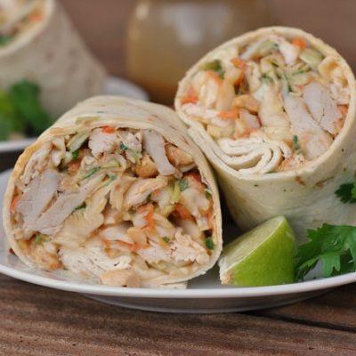 Asian Chicken Wraps + Weekly Menu