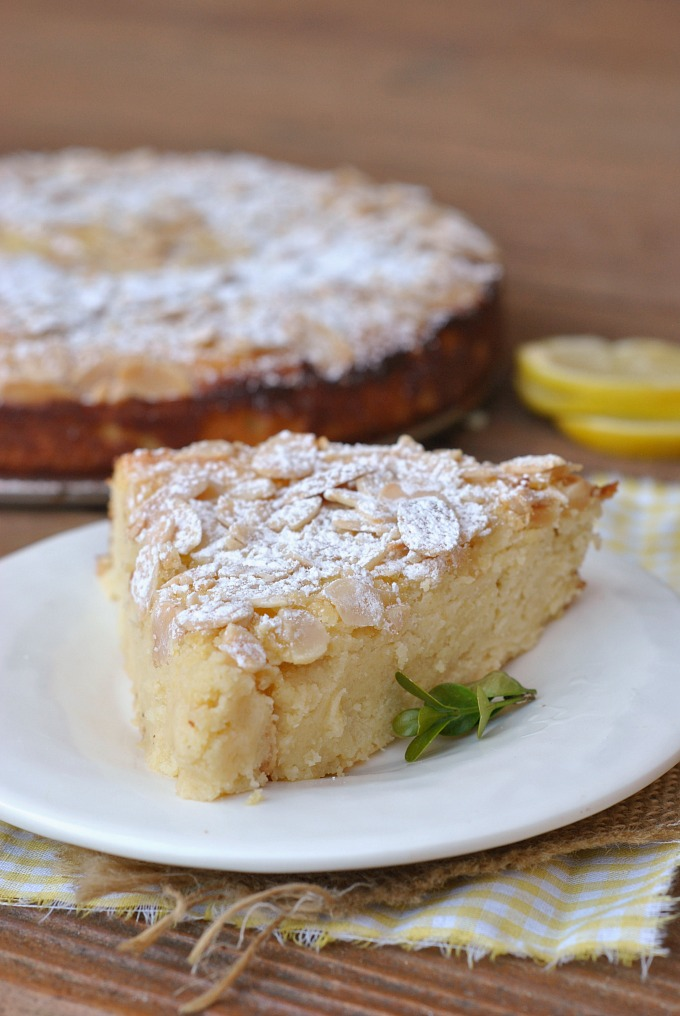 Lemon Ricotta Cake with Almonds via @preventionrd