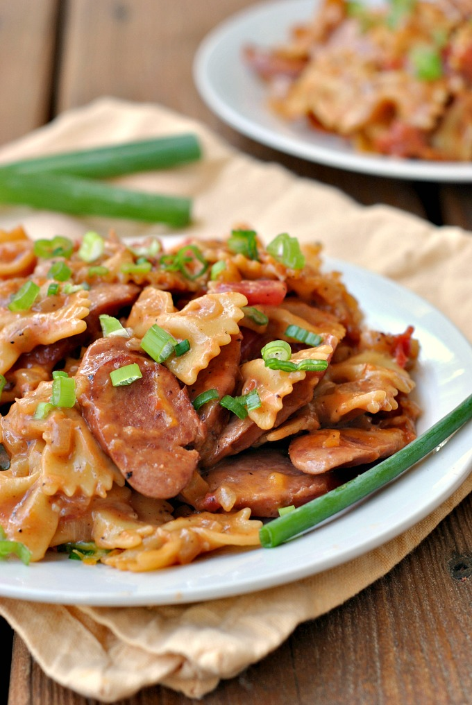 One Pot Kielbasa Pasta via @preventionrd