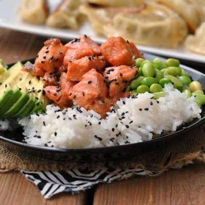 Teriyaki Salmon Sushi Bowl