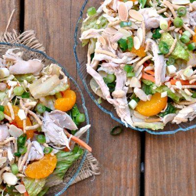 Toasted Sesame Chicken Salad + Weekly Menu