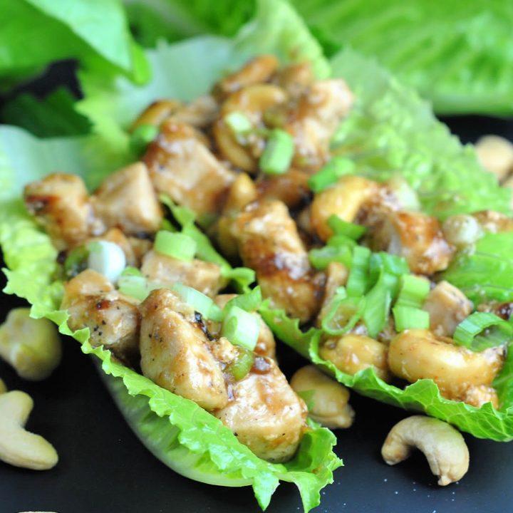 Cashew Chicken Lettuce Wraps