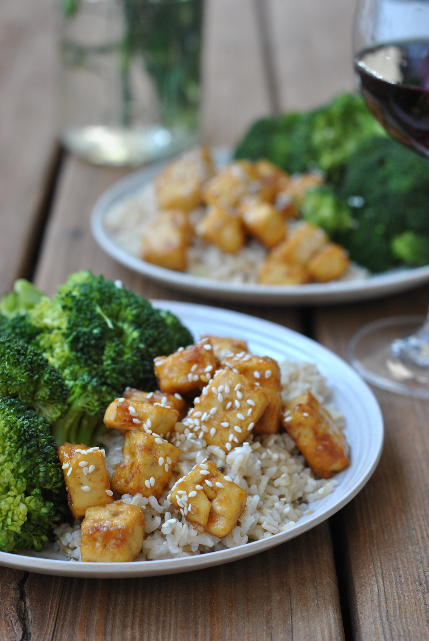 Honey Garlic Tofu via @preventionrd