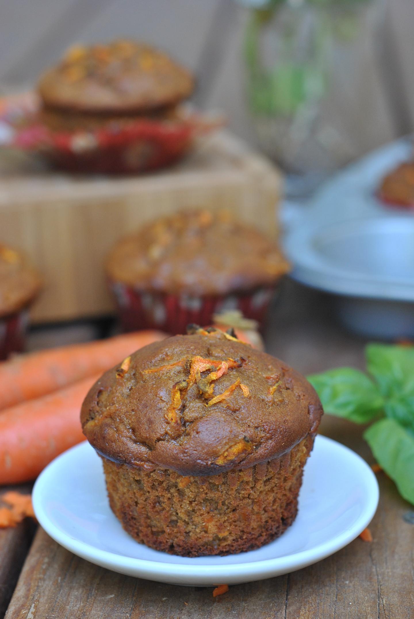 Carrot Almond Butter Muffins via @preventionrd