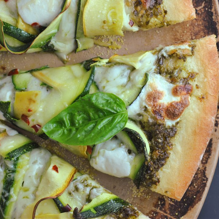 Green Goddess Pesto-Squash Pizza
