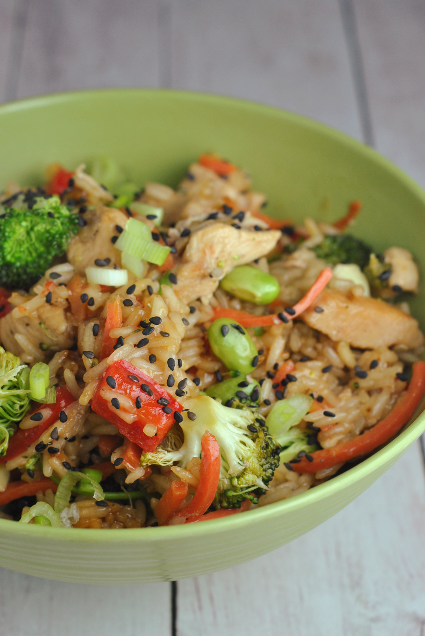 One Pot Teriyaki Rice with Chicken and Vegetables via @preventionrd