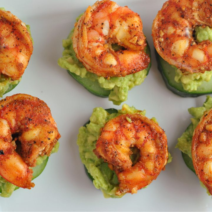 Avocado Cucumber Shrimp Appetizer