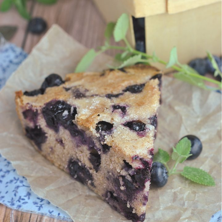 Crustless Blueberry Pie