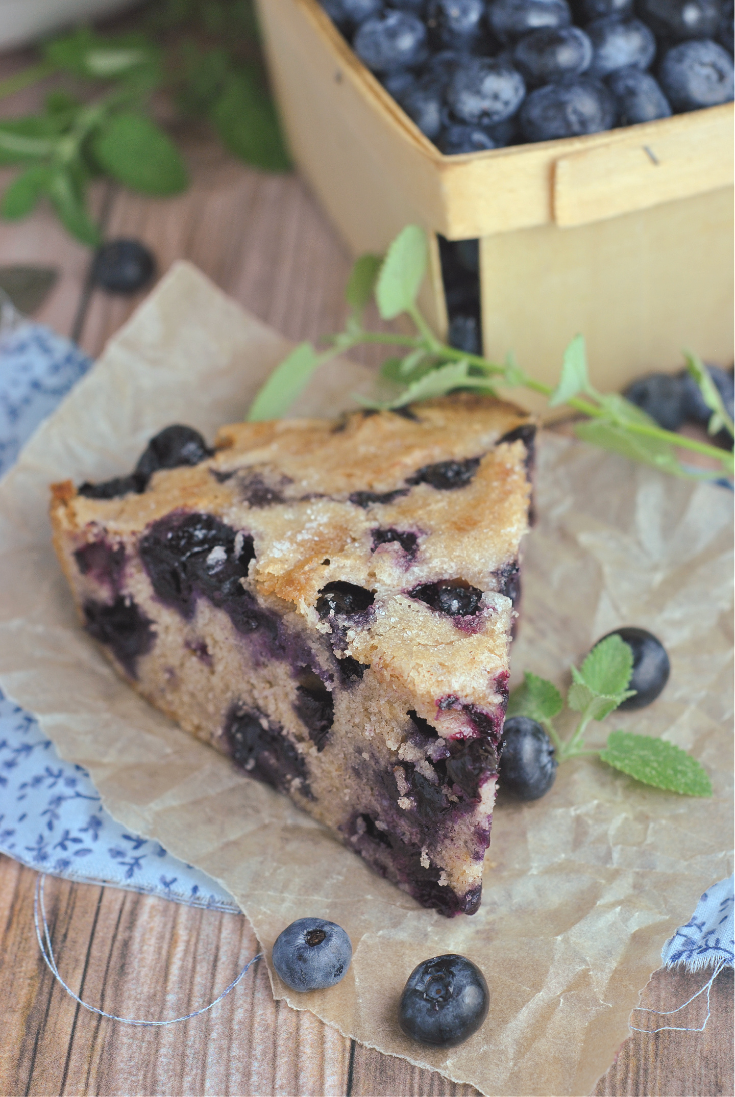 Crustless Blueberry Pie via @preventionrd
