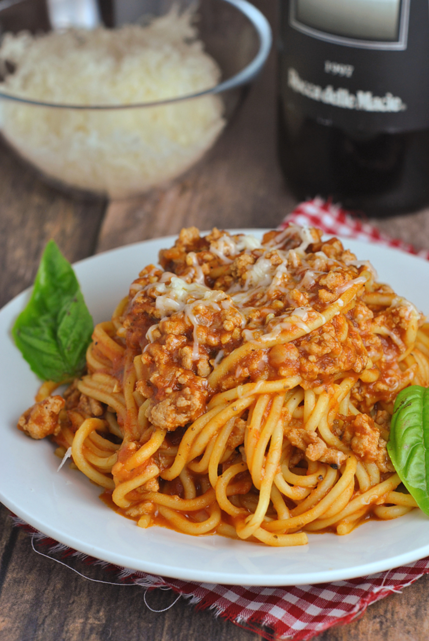 Instant Pot Spaghetti with Meat Sauce via @preventionrd