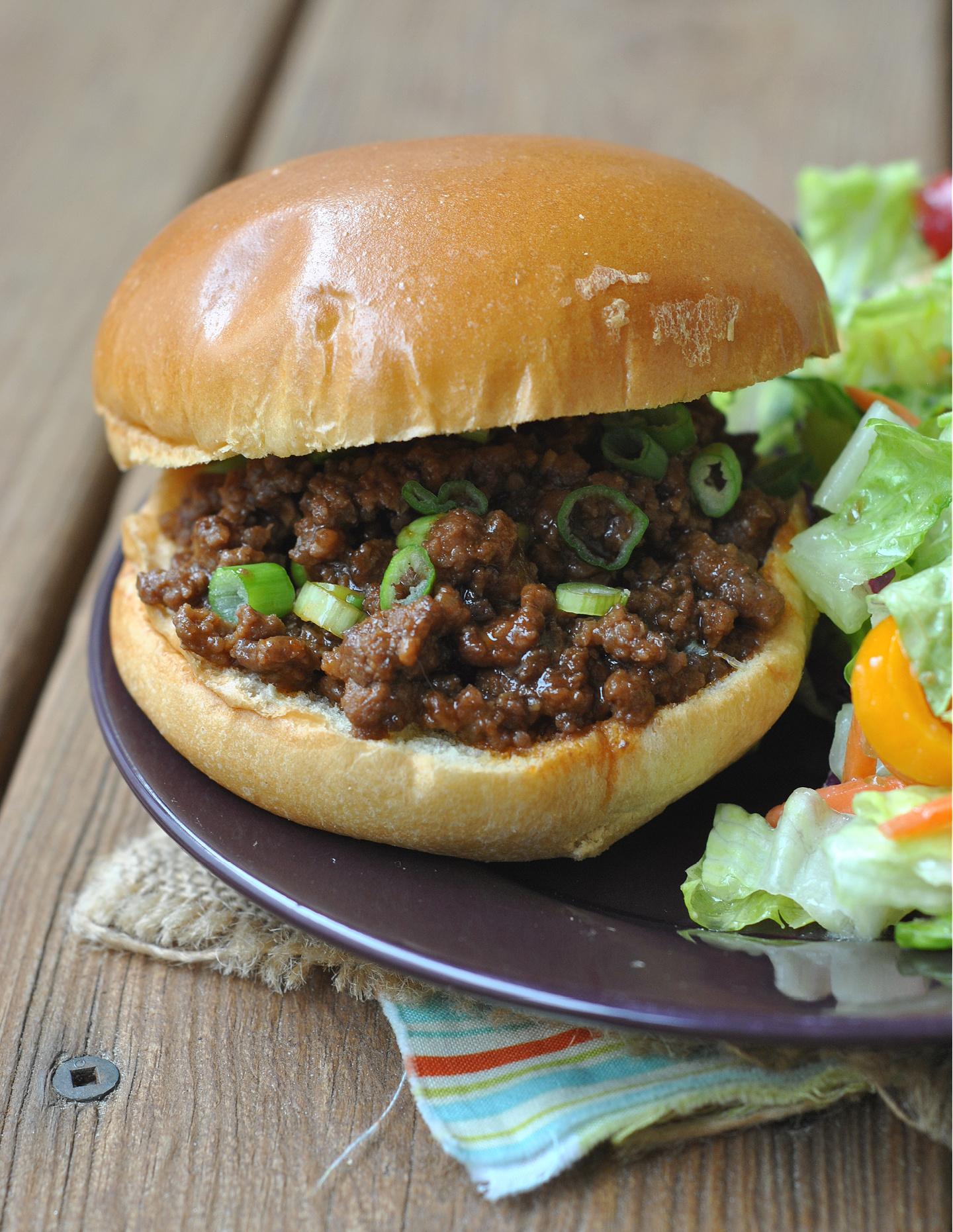Korean Beef Sloppy Joes via @preventionrd