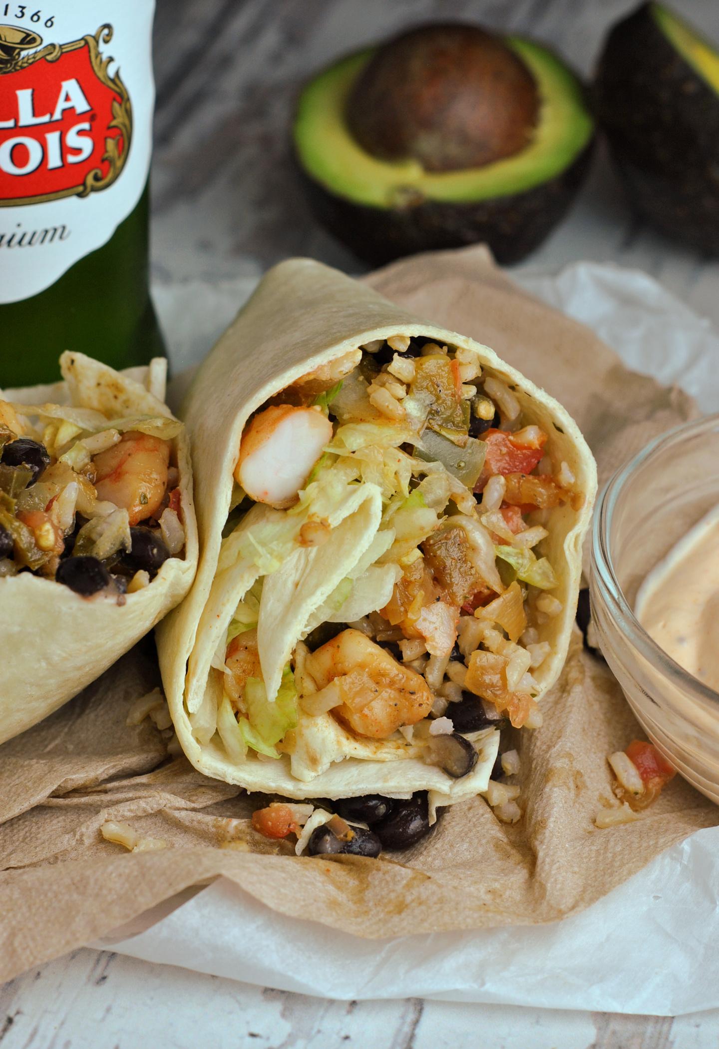 Old Bay Shrimp Burritos via @preventionrd