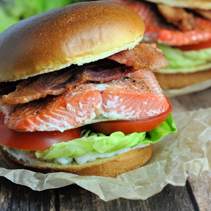 Salmon BLT with Lemon-Dill Mayonnaise