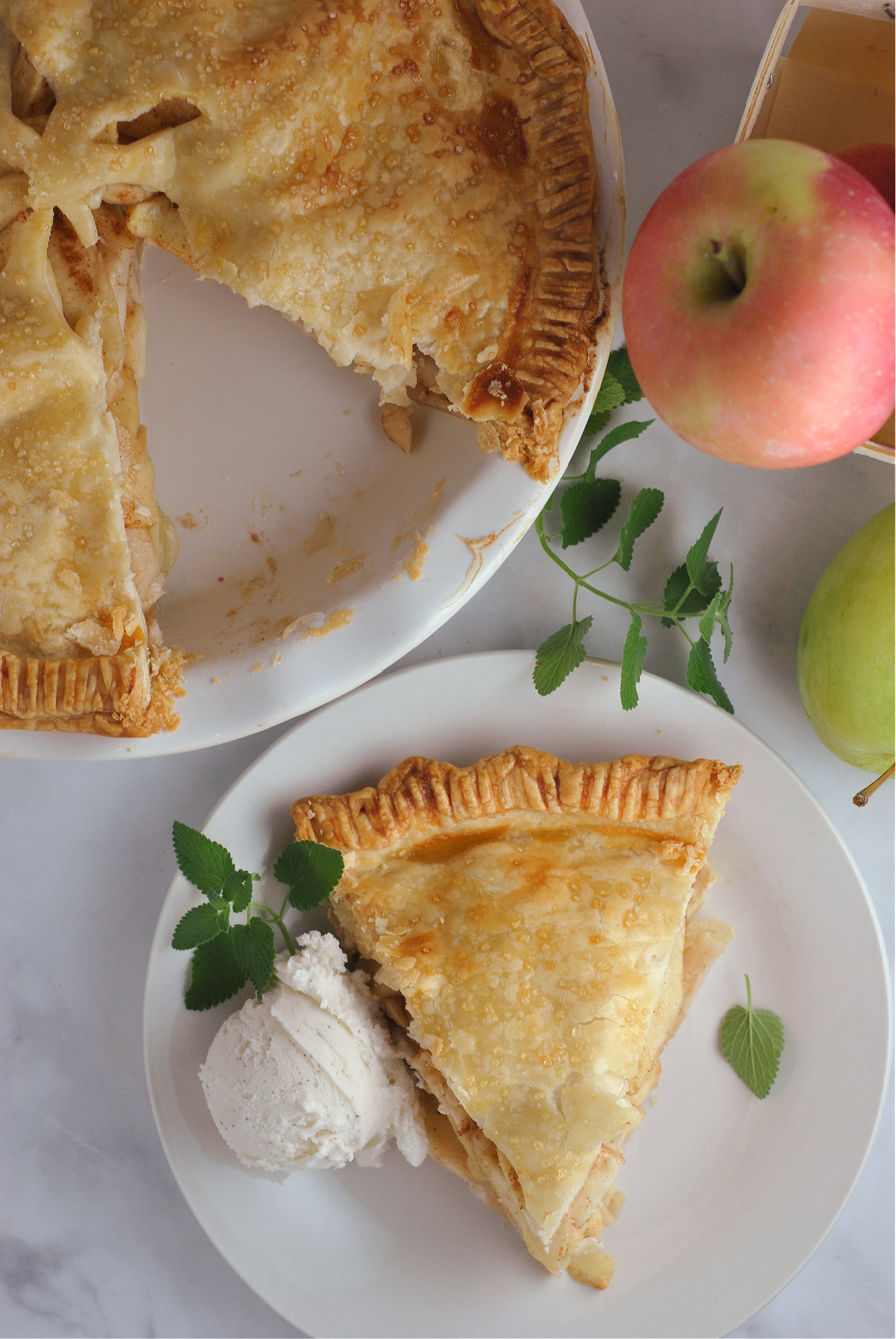 Traditional Apple Pie via @preventionrd