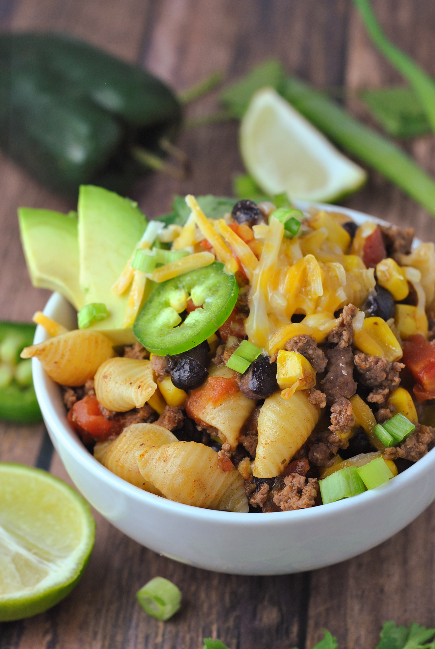 Insanely Easy Instant Pot Taco Pasta via @preventionrd
