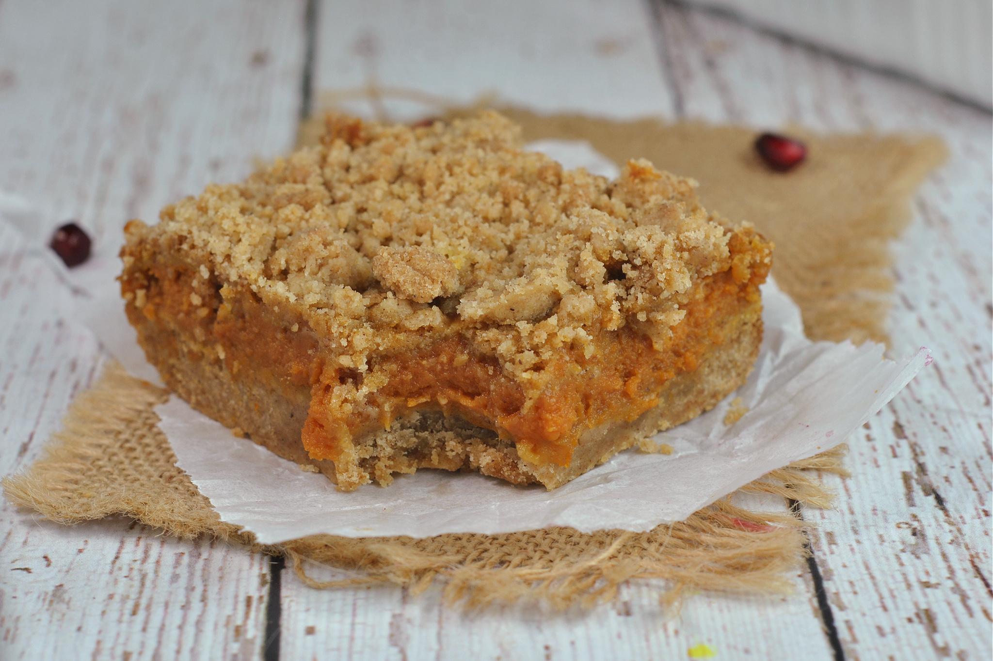 Pumpkin Pie Bars via @preventionrd