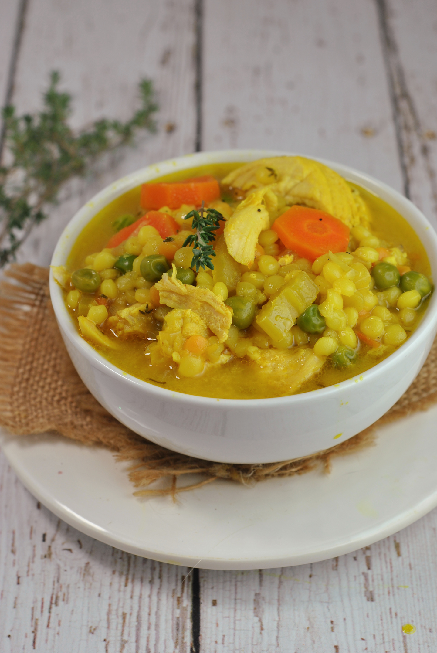 Chicken Soup with Turmeric and Ginger via @preventionrd