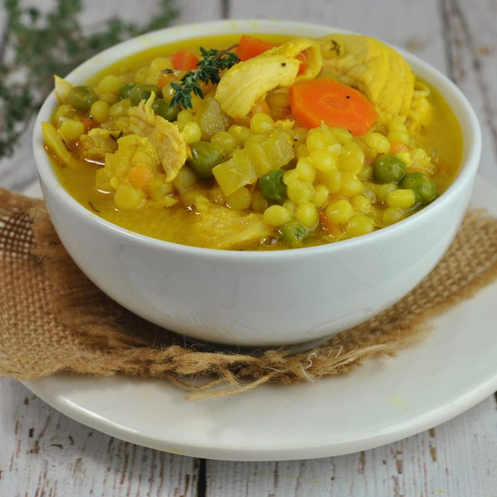 Chicken Soup with Turmeric and Ginger