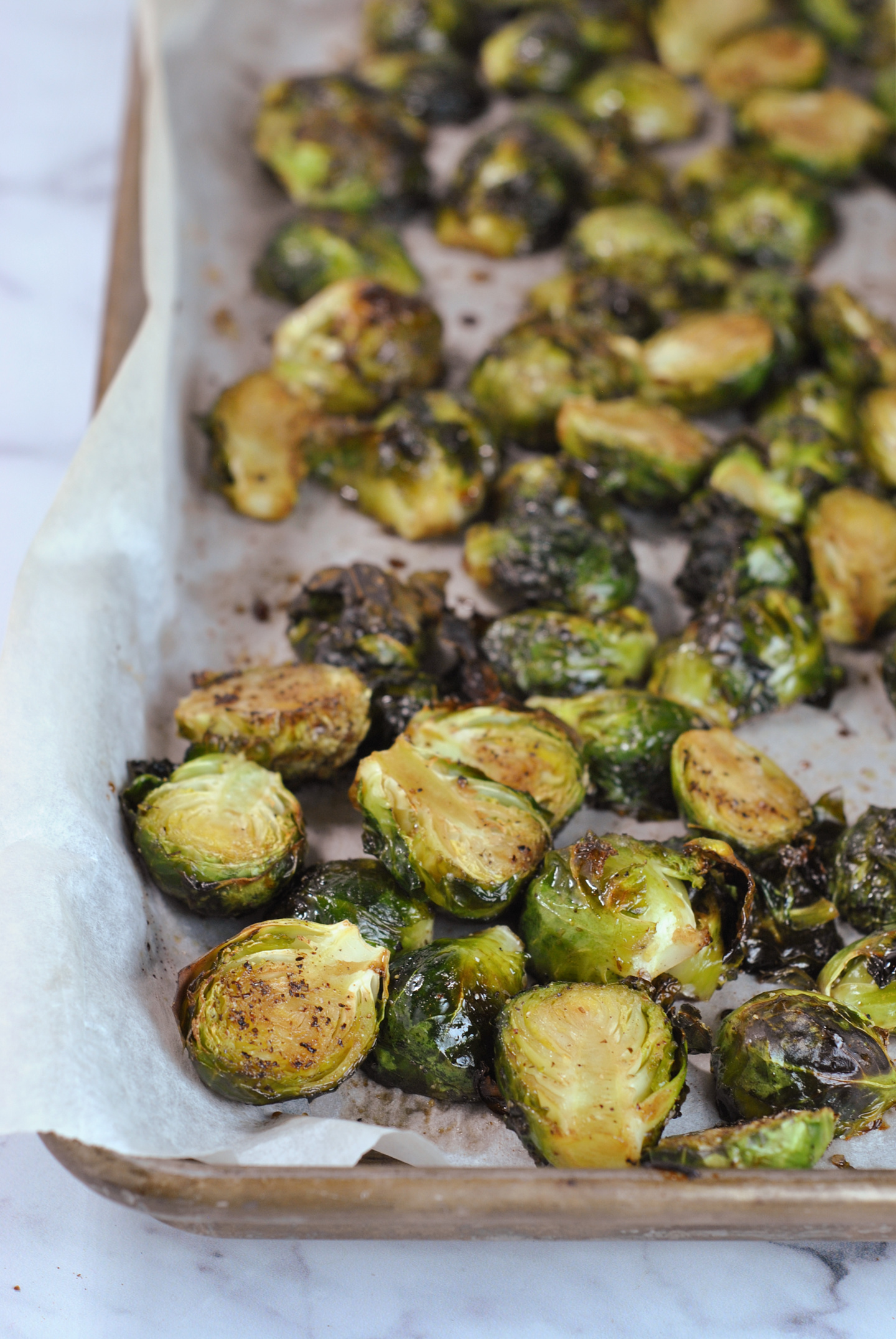 Honey Balsamic Brussels Sprouts via @preventionrd