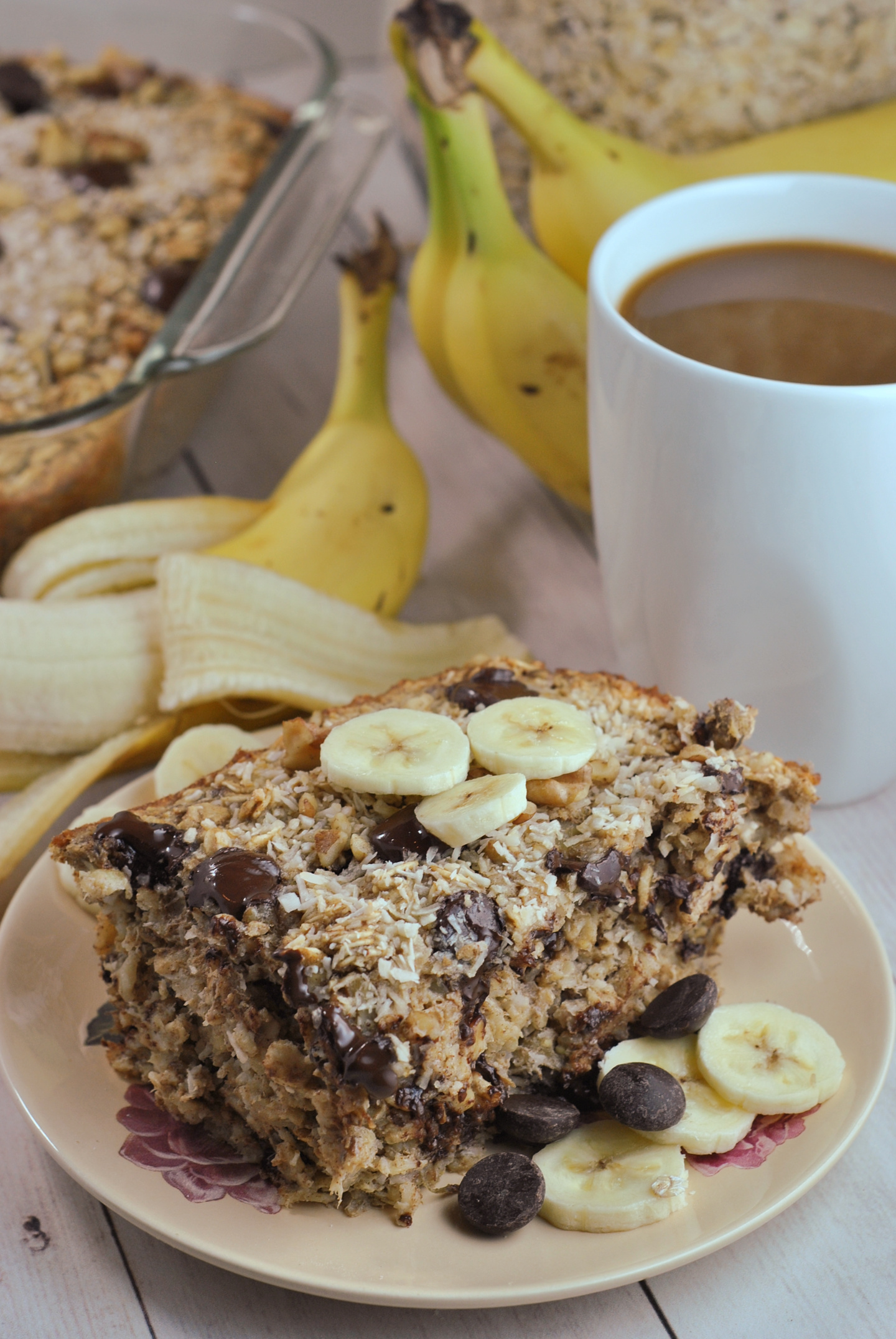 Chunky Monkey Banana Baked Oatmeal via @preventionrd
