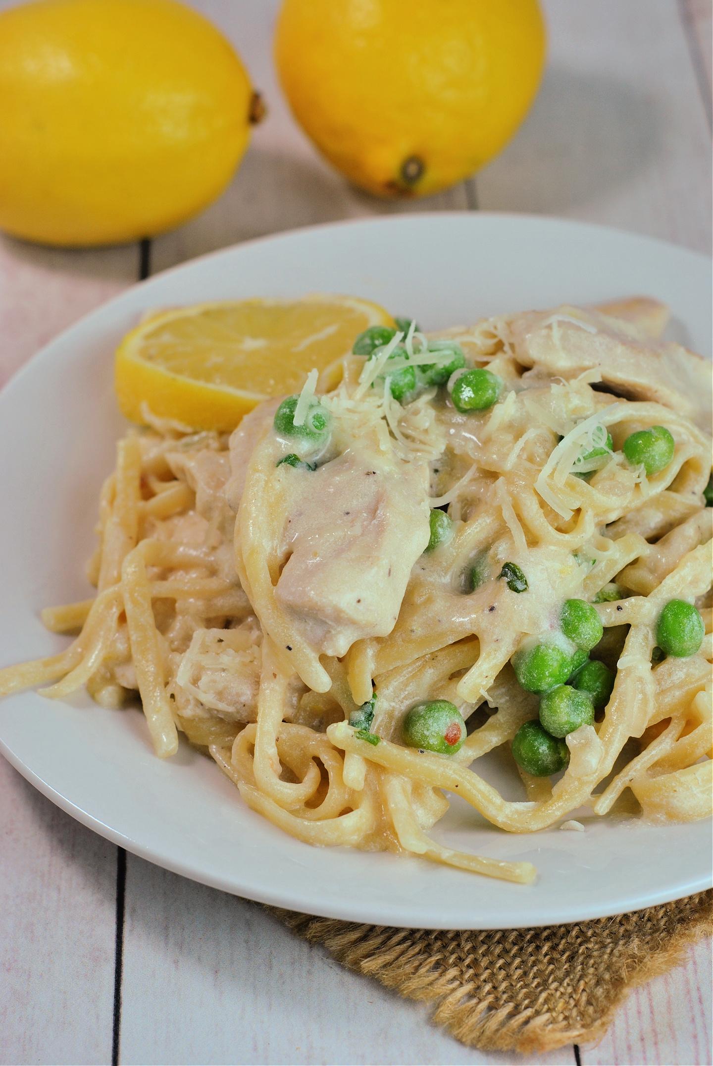 One Pot Creamy Lemon Chicken Pasta via @preventionrd