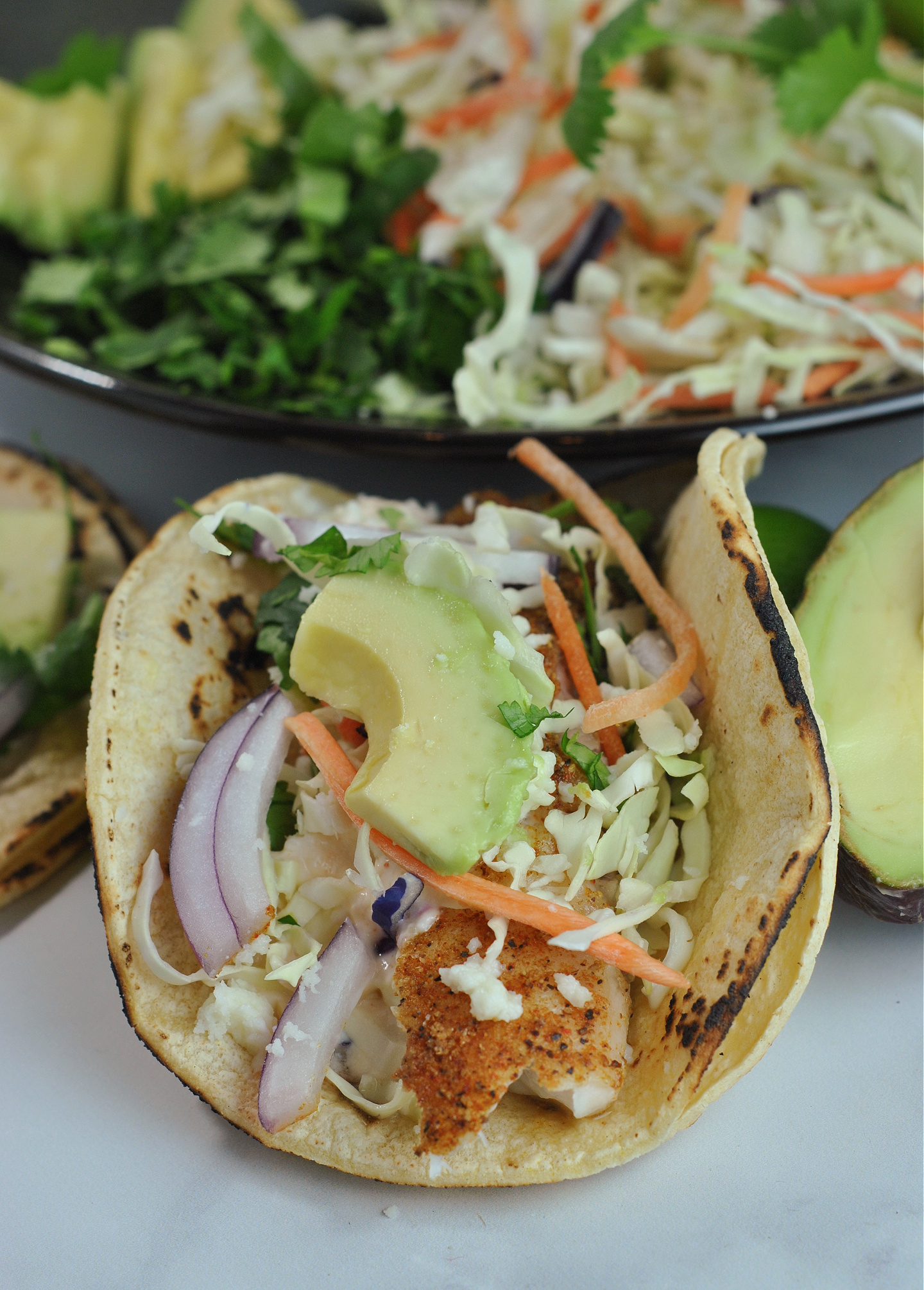 Spicy Tilapia Tacos with Sriracha Mayo via @preventionrd