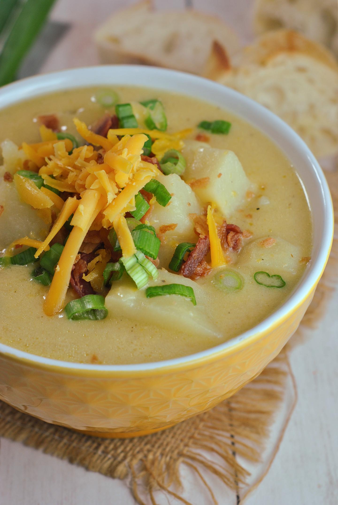 Instant Pot Loaded Potato Soup via @preventionrd