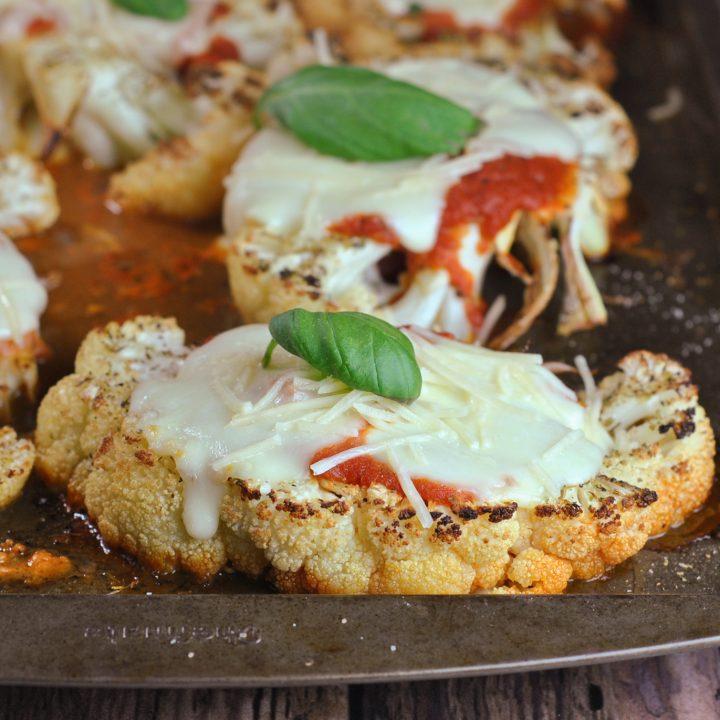 Cauliflower Parmesan with Garlic Butter Breadcrumbs