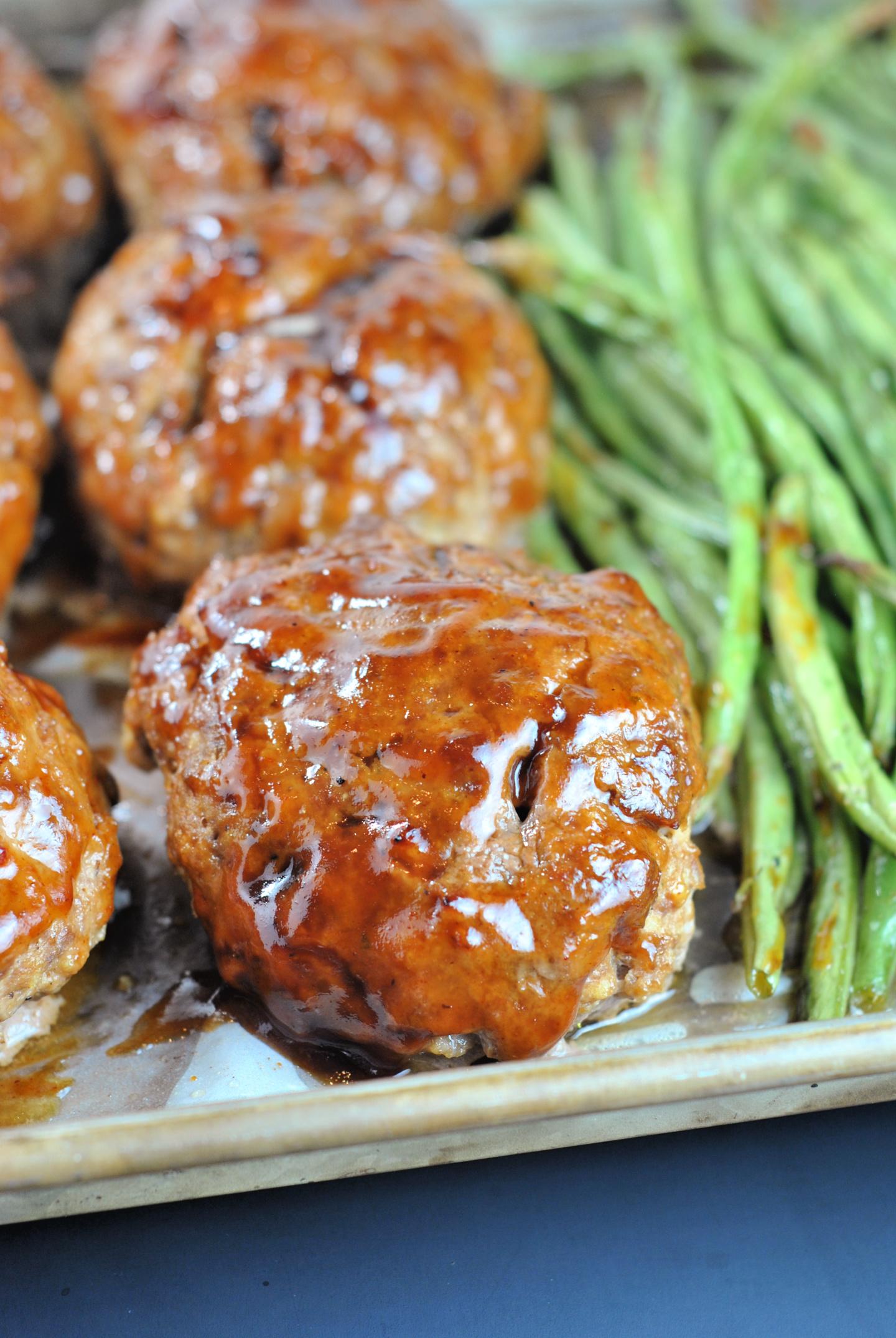 Sheet Pan BBQ Meatloaf Dinner via @preventionrd