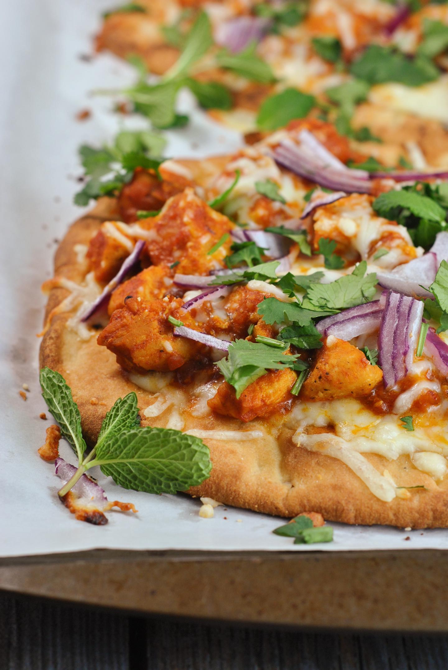 Tikka Masala Naan Pizzas via @preventionrd