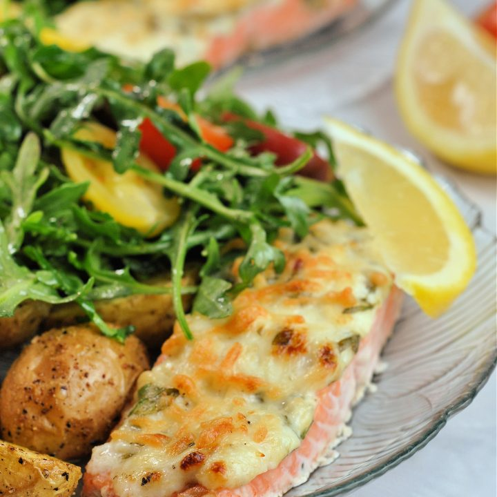 Air Fryer Basil-Parmesan Crusted Salmon