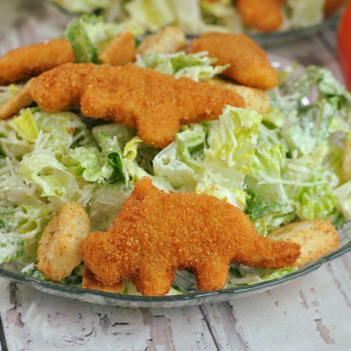 Dino Chicken Nugget Caesar Salad