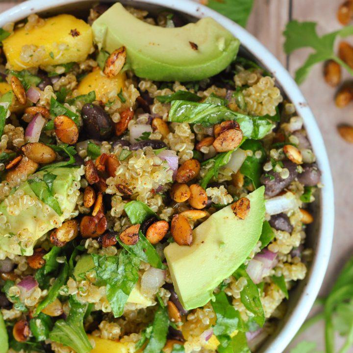 Quinoa Mango Black Bean Salad with Chipotle-Lime Vinaigrette