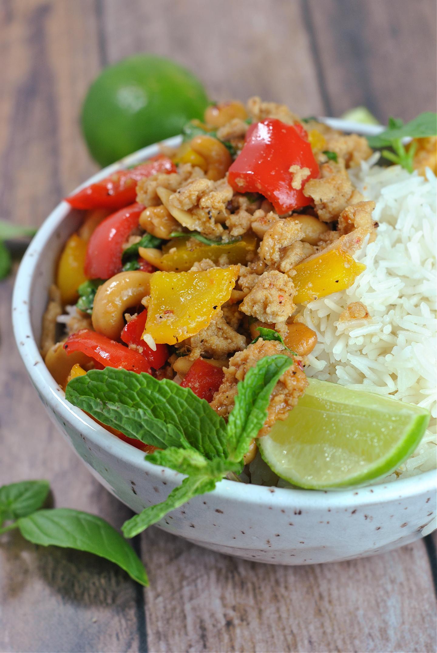 Better Than Takeout Sweet Thai Basil Chicken via @preventionrd