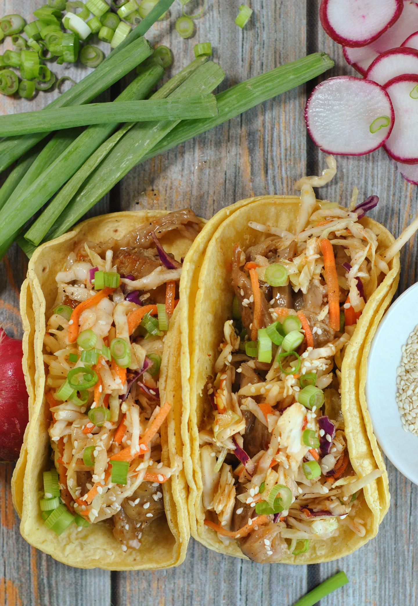 Korean BBQ Tacos with Quick Kimchi via @preventionrd