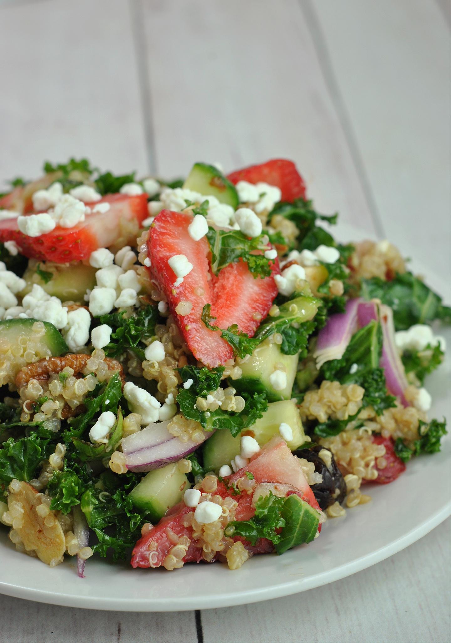 Strawberry-Kale Quinoa Salad via @preventionrd