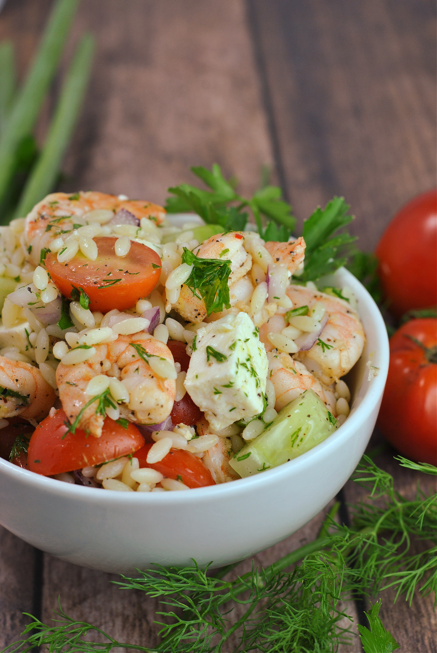 Greek-Style Shrimp Orzo Pasta Salad via @preventionrd