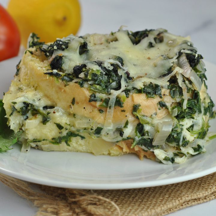 Spinach and Gruyère Breakfast Strata