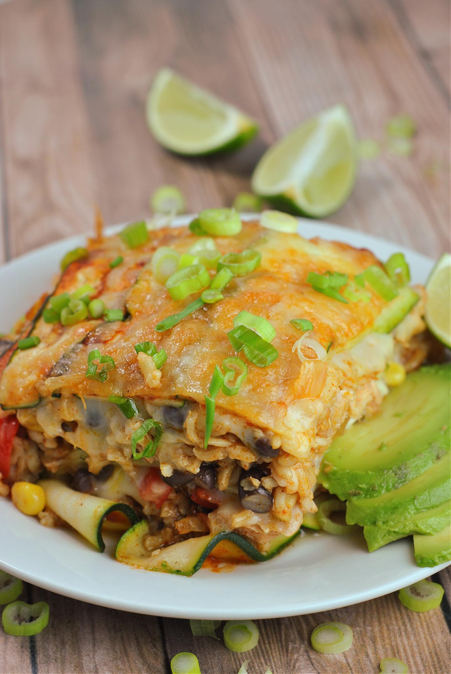 Zucchini Enchilada Lasagna via @preventionrd