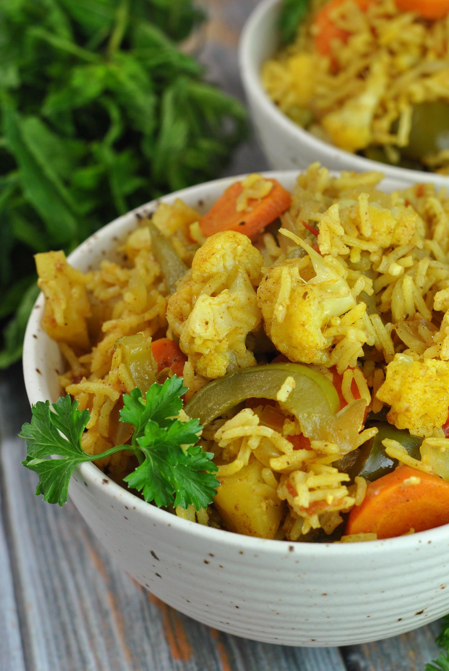 Easy Vegan Vegetable Biryani via @preventionrd