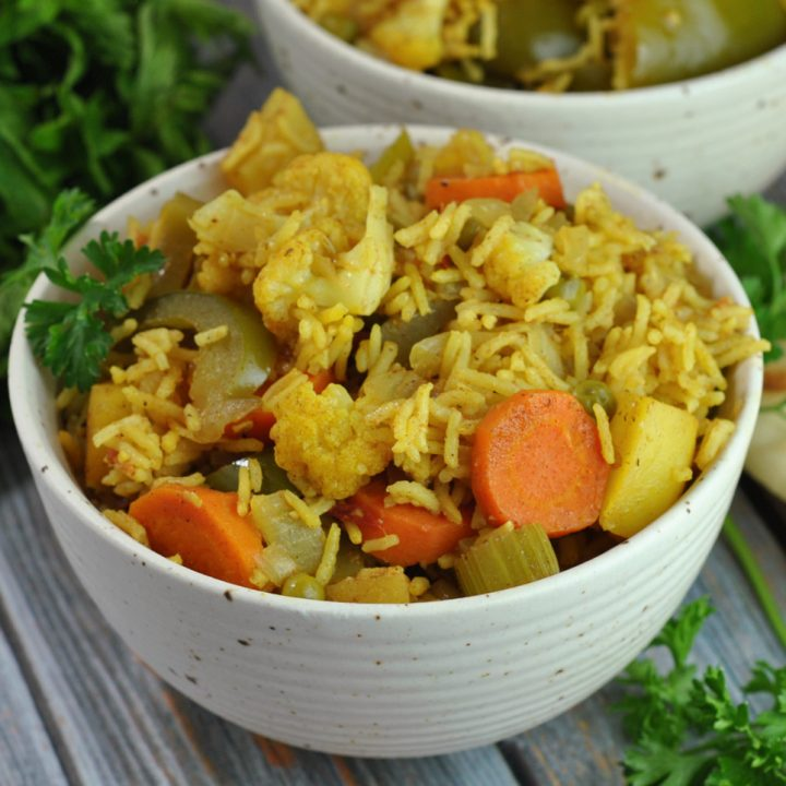 Easy Vegan Vegetable Biryani