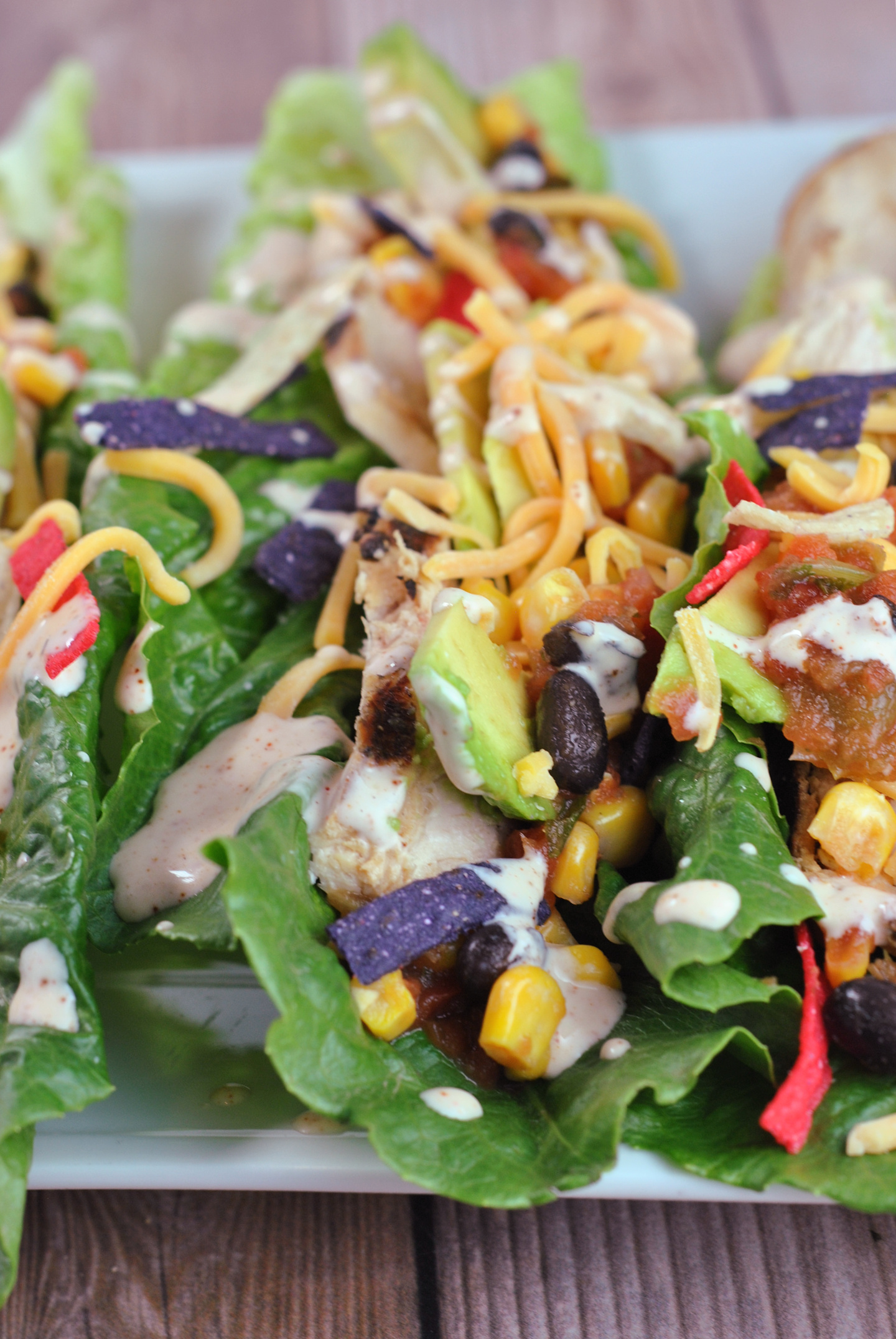 Tex-Mex Chicken Lettuce Rollers via @preventionrd